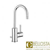 Высокий смеситель для раковины с донным клапаном, поворотный излив Bellosta Bambu 01-0405/4/A Хром