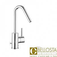 Высокий смеситель для раковины с донным клапаном, поворотный излив Bellosta Bambu 01-0405/4/A/J Хром
