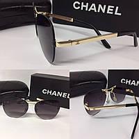 """Очки авиаторы черные """"Chanel"""""""