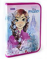 """491202 Папка для труда пласт, на молнии  с внутр, карманом А4 """"Frozen"""""""