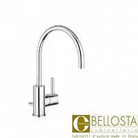 Высокий смеситель для раковины с донным клапаном, поворотный излив Bellosta Bambu 01-0405/4/B Хром