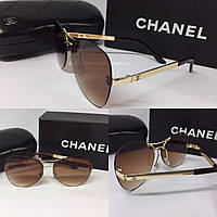 """Очки авиаторы коричневые """"Chanel"""""""