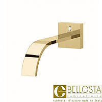 Настенный каскадный излив для ванны Bellosta F-Vogue Bijoux Swarovski 71-3303 Матовое Золото