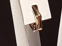 Золотая серьга. Артикул 363097ж, фото 1