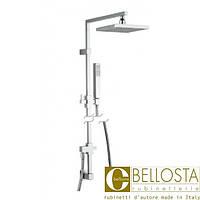 Душевая колонна с переключателем и настенным выводом воды Bellosta T-Lux 01-6513/5/1 Хром