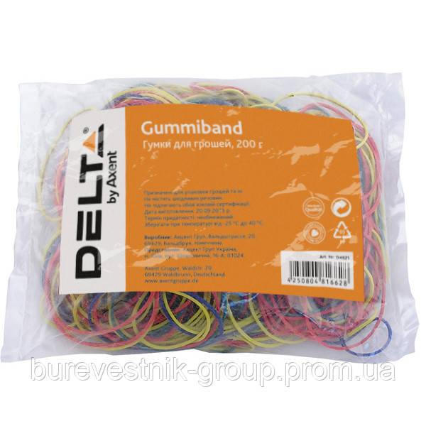 Резинки для денег цветные Delta, 200 г (D4621)
