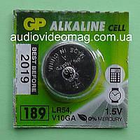 Батарейка щелочная GP G10 189 LR54 Alkaline 1.5 V для часов
