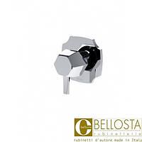 Встраиваемый трехходовой переключатель Bellosta Stresa 01-1403/3K Хром