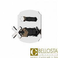 Встраиваемый смеситель для душа с переключателем на два потока Bellosta Stresa **-1700/K Матовый Хром, Золото