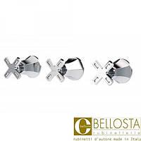 Встраиваемый смеситель для душа с переключателем на два потока Bellosta Stresa Swarovski **-1800/3 Матовый Хром, Золото