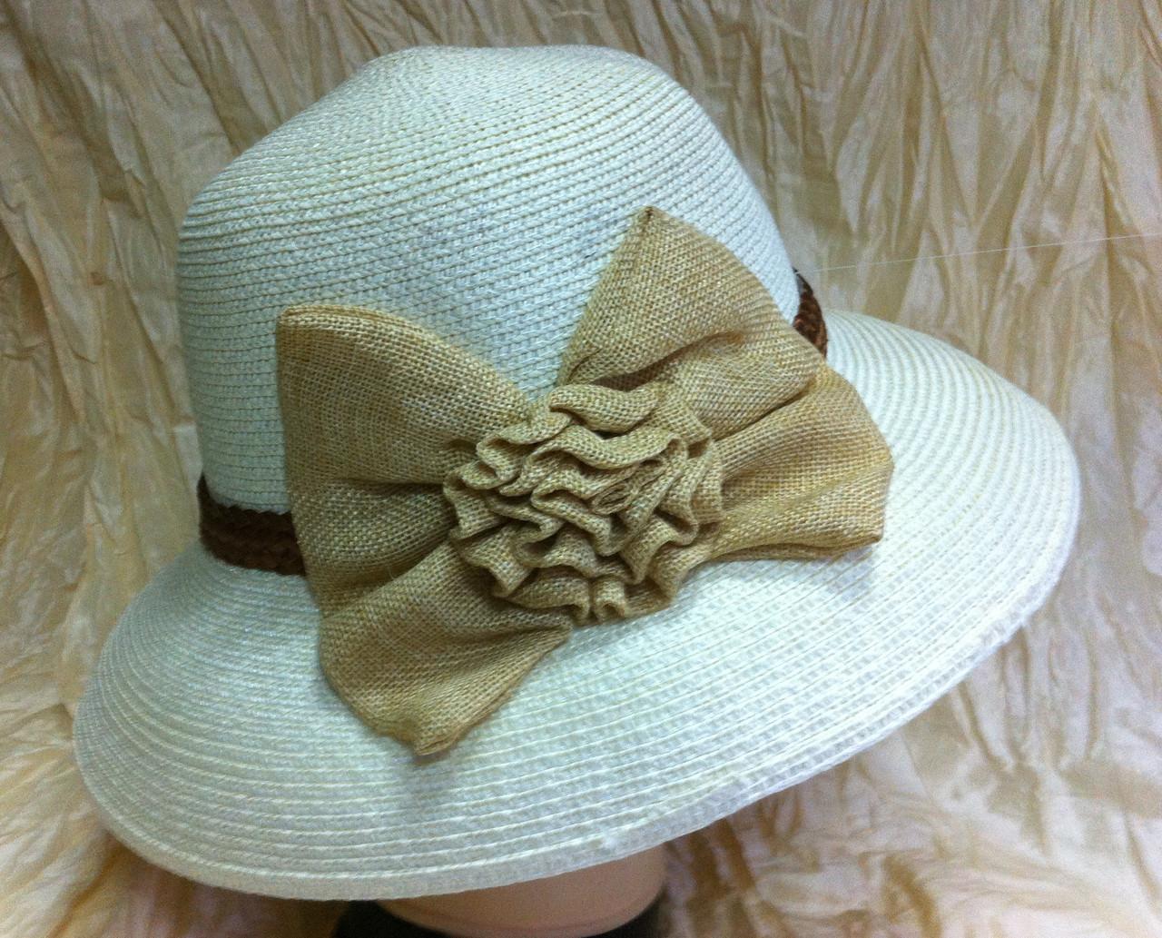 Шляпа  женская с моделируемыми полями