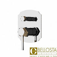 Встраиваемый смеситель для душа с переключателем на два потока Bellosta Stresa **-1400/K Матовый Хром, Золото