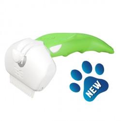 FoOlee Easee Дешеддер ФОЛИ ИЗИ МАЛЕНЬКИЙ для удаления линяющей шерсти собак и кошек, зеленый, ширина картриджа