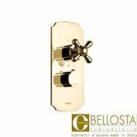 Встраиваемый термостат с низким расходом, три выхода Bellosta Romina 04-0312/3/K Золото