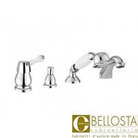 Смеситель для установки на борт ванны в четыре отверстия Bellosta Noel 01-1501/2/** Хром