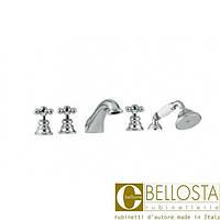 Смеситель для установки на борту ванны в пять отверстий Bellosta Charlotte 01-0701/2/C Хром