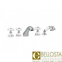 Смеситель для установки на борт ванны в пять отверстий Bellosta Joconde 01-4001/2 Хром