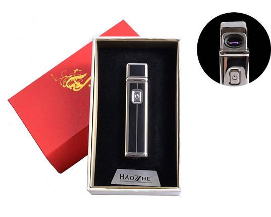 Электроимпульсная USB зажигалка №4773-3, привлекает внимание окружающих, подарочная упаковка, стильный подарок, фото 2