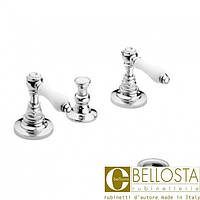 Смеситель для биде на три отверстия с донным клапаном Bellosta Edward Lever 01-0805/L* Хром