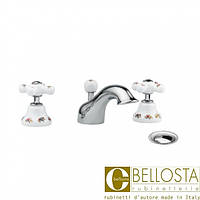 Смеситель для раковины на три отверстия с донным клапаном Bellosta Joconde 01-4005 Хром