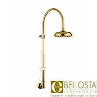 Душевая колона, верхний душ D 200 мм Bellosta Pascal **-0513/4 Золото, Матовое Золото
