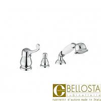 Смеситель для установки на борт ванны в три отверстия Bellosta Pascal 01-1001/20 Хром