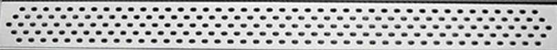 """Душевой канал Inox Style из нержавеющей стали 785 мм с горизонтальным фланцемс решеткой """"Овал"""" L78509"""