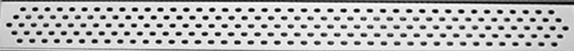 """Душевой канал из нержавеющей стали 785 мм с горизонтальным фланцем  с решеткой """"Овал"""""""