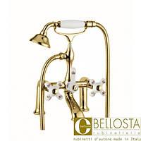 Смеситель для установки на борт ванны на ножках Bellosta Joconde 04-4001/4 Золото