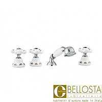 Смеситель для установки на борт ванны в четыре отверстия Bellosta Joconde 01-4001/20 Хром