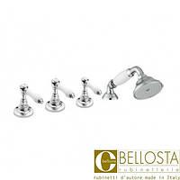 Смеситель для установки на борт ванны в четыре отверстия Bellosta Edward Lever 01-0801/20/L* Хром