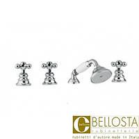 Смеситель для установки на борту ванны в четыре отверстия Bellosta Charlotte 01-0701/20/C Хром