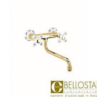 Настенный смеситель для кухни Bellosta Cucina Classico Joconde 04-4009/C Золото