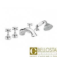 Смеситель для установки на борт ванны в пять отверстий Bellosta Edward 01-0801/2/C Хром