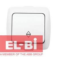 Выключатель 1-кл проходной накладной El-Bi ALSU белый 504-010200-209