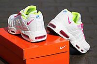 Женские кроссовки Nike 95 🔥  (Найк 95) Розовые с белым