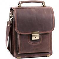 Планшет-сумка из натуральной кожи коричневой СПБ-1