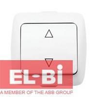 Выключатель 1-кл перекрестный накладной El-Bi ALSU белый 504-010200-214