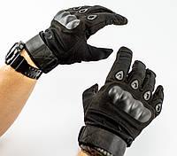 Тактические перчатки полнопалые, черные, фото 1