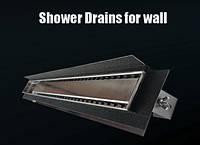 Душевой канал Inox Style из нержавеющей стали с вертикальным фланцем под стену485 мм L48512, фото 1