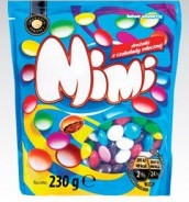 Шоколадное драже MIMI в цветной глазуре  Польша 230г