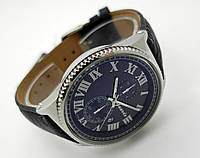 Часы мужские Guardo - Nardin,  Made in Italy, цвет серебро, черный ремешок и циферблат