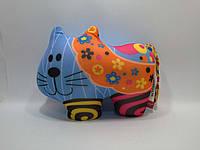 Danko Мягкая игрушка антистресс КОТ в цветочек р.27х20 см (DT-ST-01-62)