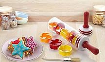 Качалка для розкочування тіста з формочками для фігурного печива Roll and Store Pin