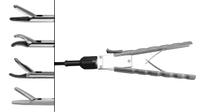 Иглодержатель, прямой, твердосплавный, разборной, в комплекте 3 части, изогнут влево 5 мм, 330 мм
