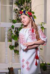Платье вышиванка детское Орнамент (размер146-152)