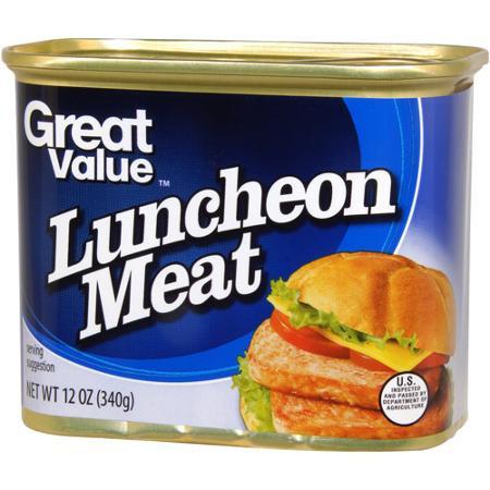 Мясо в банке. Халяль. Мясная нарезка. Luncheon meat Halal