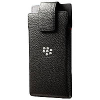 Чехол BlackBerry Z20 Leap кармашек кожаный черный