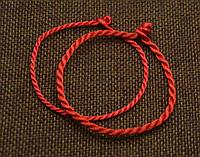 Парные браслеты красная нить оберег от сглаза (тонкая + толстая)