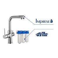 Смеситель для кухни Imprese DAICY сатин + USTM система очистки воды (3-х ступенчатая) 55009-F+FMV3ECOSTD